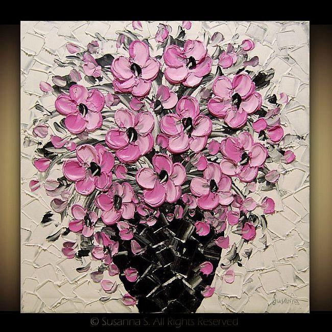 Art: Pink Blossoms by Artist Susanna Shap