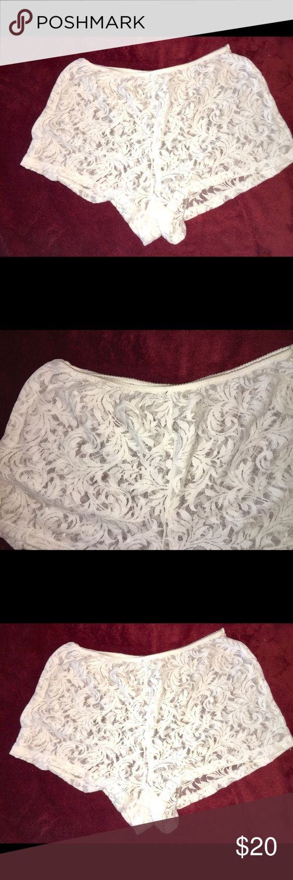 Calvin Klein Boy Panties.  NWOT Calvin Klein boy Panties are the cutest ever. White lace makes them so sexy -- everyone needs at least one pair of these--Gorgeous white lace Calvin Klein Intimates & Sleepwear Panties