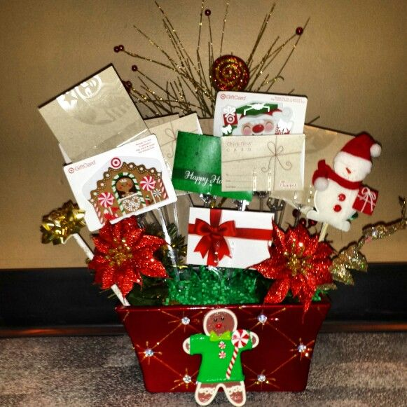 Gift card bouquet - who doesn't love gift cards