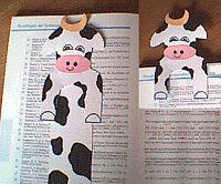 boekenlegger knutsel koe