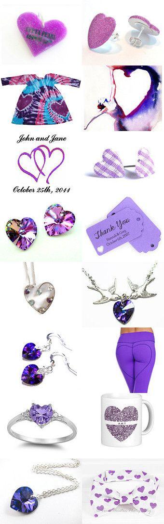 My ♥ is Purple by Gabbie on Etsy