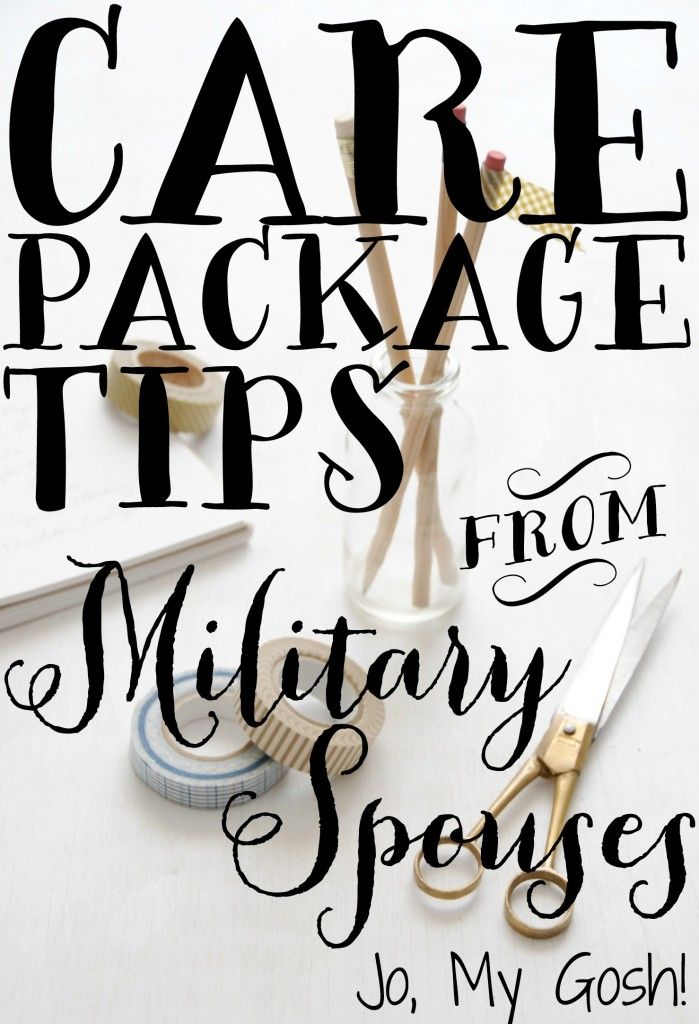 Tried and true care package tips from real military spouses-- how to keep costs under control, things to send, how to package cookies and cupcakes... great stuff!