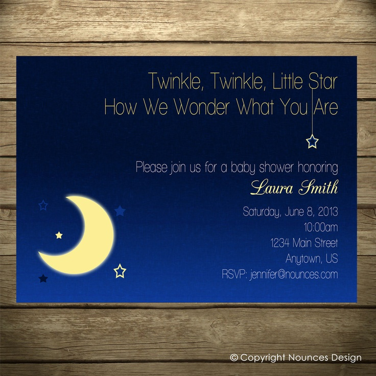 17 best images about twinkle, twinkle, little star on pinterest, Baby shower invitations