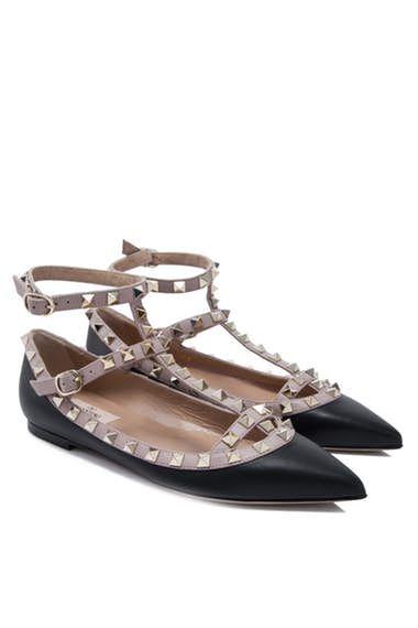 Valentino Garavani Rockstud Ballerina Flats