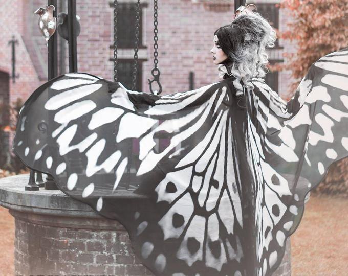 Moth Wings Costume Butterfly Cape Fairy Wings Festival Clothing Burning Man Moth Costume Mit Bildern Motte Schmetterling Festival