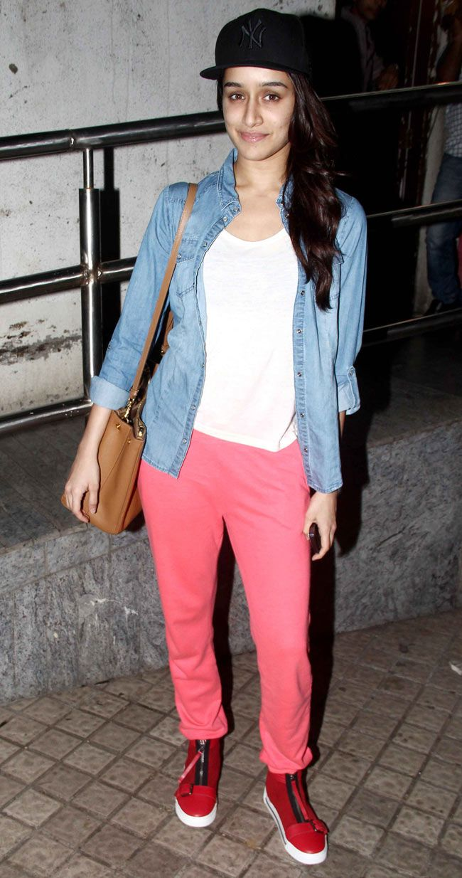 Shraddha Kapoor at a screening of 'Bang Bang'.