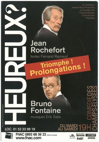 Comédie des Champs Élysées (Paris. 2006). Jean Rochefort & Bruno Fontaine in 'Hereux, de Fernand Raynaud