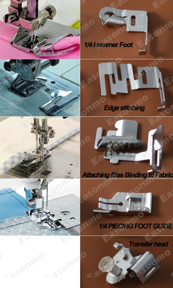 sewing machine pressing feet jobs Prensa telas, pies.