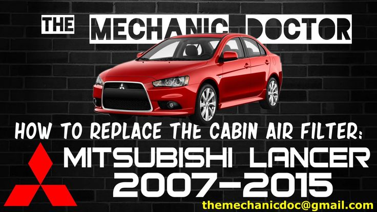 This video will show you step by step instructions on how to replace the cabin air filter on a Mitsubishi Lancer 2007-2015.