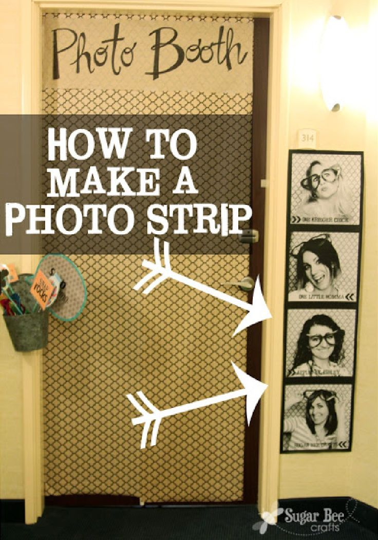 giant photo strip for cheap tutorial - Ideas For Decorating Your Bedroom