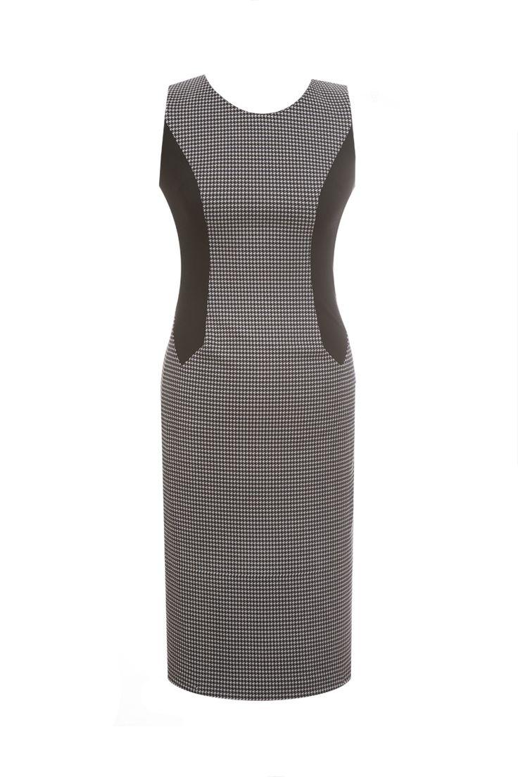 Sukienka FSU 628 czarna-pepitka
