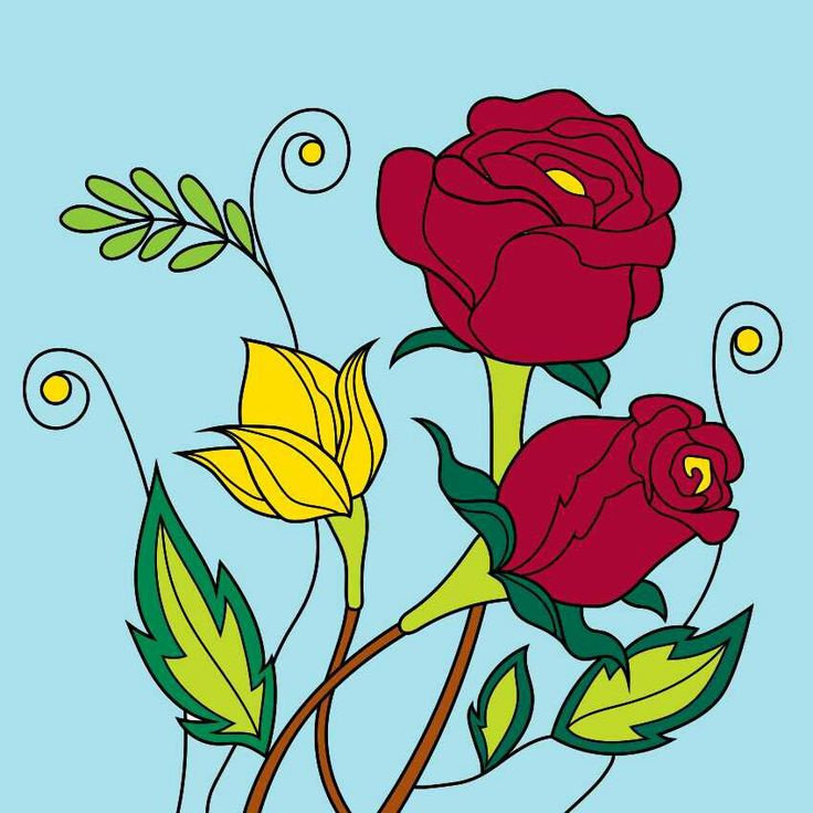 Rose #coloring #colorfy @colorfyapp