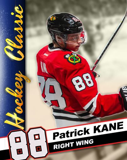 You can collect KANE CARDS in Patrick Kane's Hockey Classic, here's #10 - HOMETOWN BOY