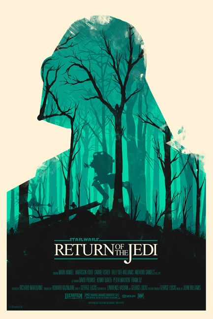 Return Of The Jedi | Community Post: 18 Reimagined Movie Posters That Are Cooler Than The Originals
