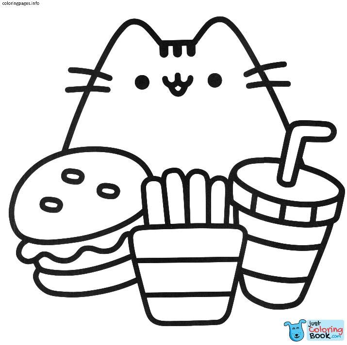 Kawaii Pusheen Cat Coloring Pages Coloring Pages Pusheen Intended
