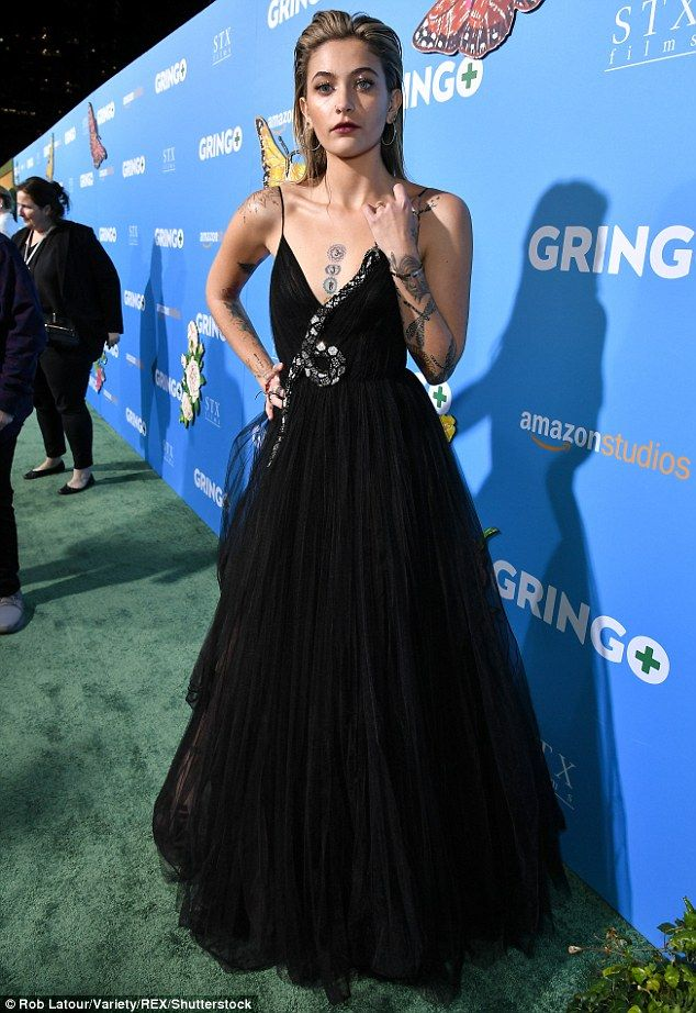 Prem posing: Famous names flocked to the Los Angeles premiere of Gringo on Tuesday, among them Paris Jackson, the 19-year-old daughter of the late Michael Jackson