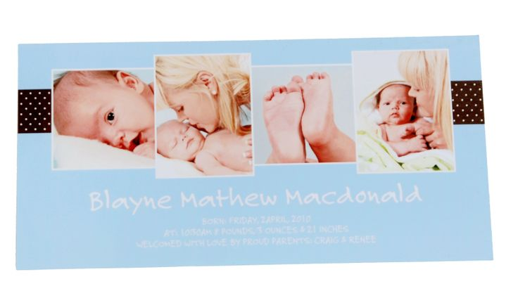 New baby card, photos from PT´s Foto Fun
