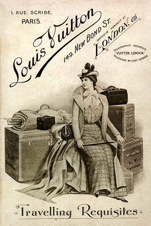 Vintage Louis Vuitton Traveling Requisites Advertisement 2 By Ginger Canvas Print #ICA142