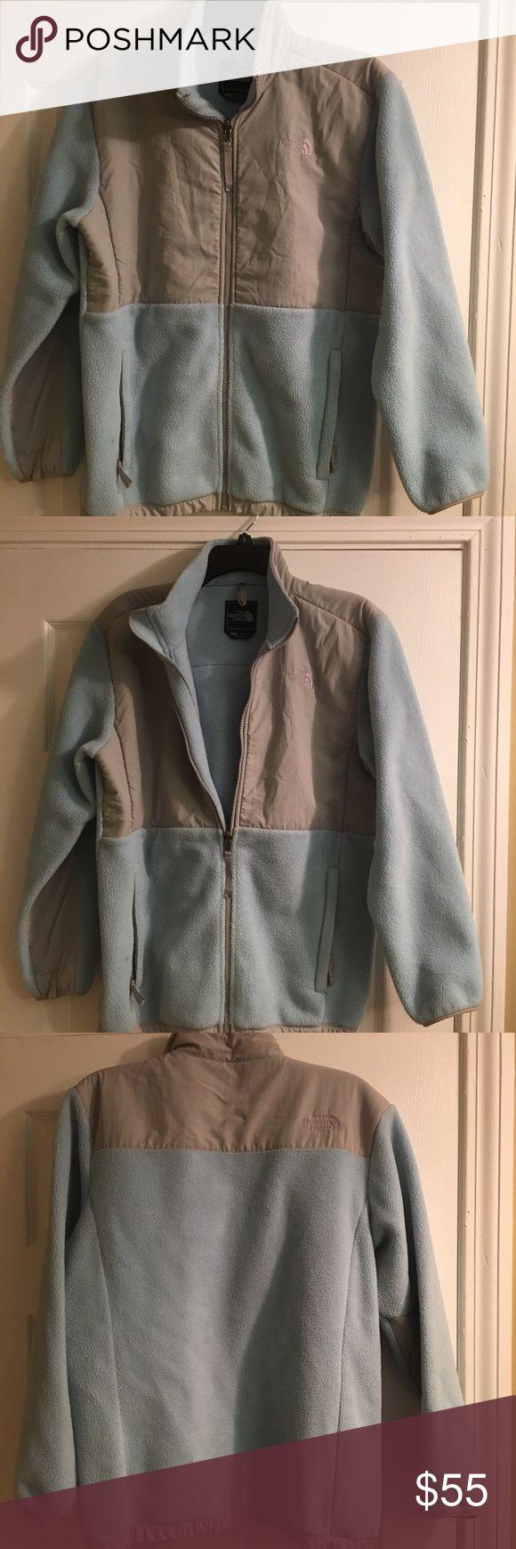 North Face, Girls Fleece Fleece gray & blue xl girls fleece, pre owned in very good condition North Face Jackets & Coats Blazers