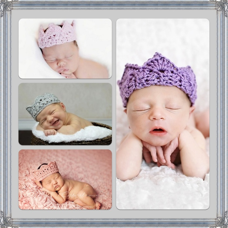 These gorgeous Handmade Crochet Crowns are made from a very soft cotton yarn just perfect for your little prince or princess! Ideal  for newborn, or birthday portraits or even as a dress up accessory for your little prince or princess! It would also make a great baby shower gift!  Size 0-6 month...