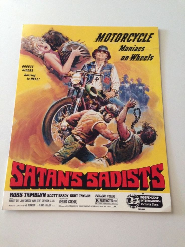 Satan's Sadists Cult Movie Promotional Sheet with Russ Tamblyn 1969  | eBay