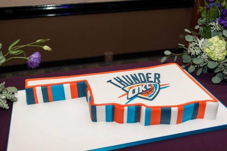 OKC Thunder groom's cake