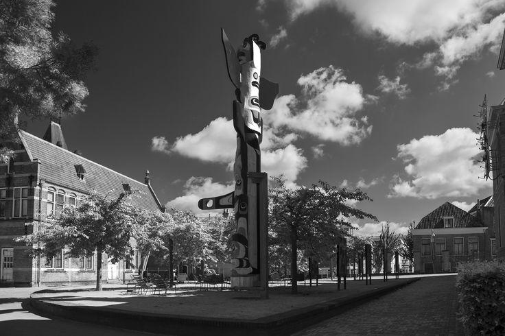 Het pleintje bij museum Volkenkunde in Leiden