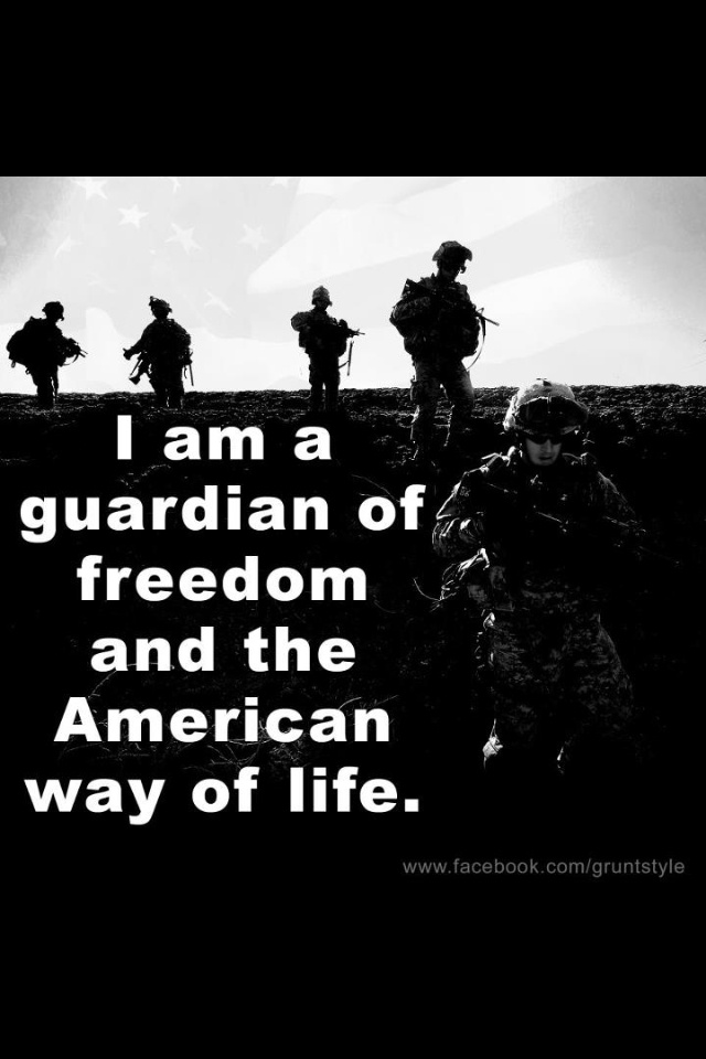 Of freedom and the american way of life military signs real american