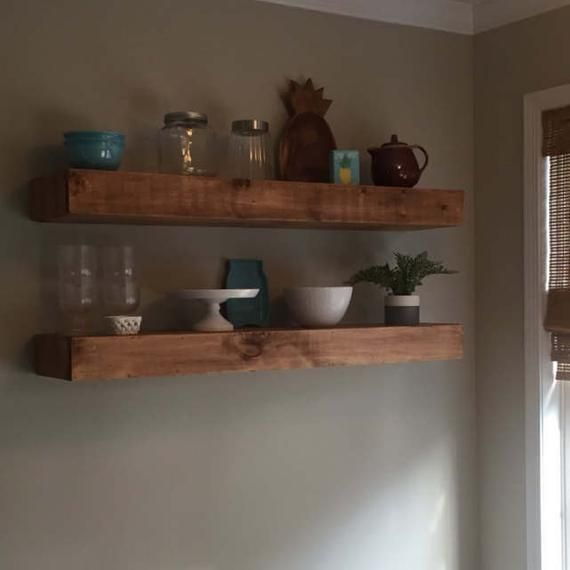 Wood Floating Shelves 10 Inches Deep Rustic Shelf Farmhouse Shelf Floating Shelf Reclaimed Wood Handmade Shelf Wood Floating Shelves Rustic Shelves Wood Wall Shelf