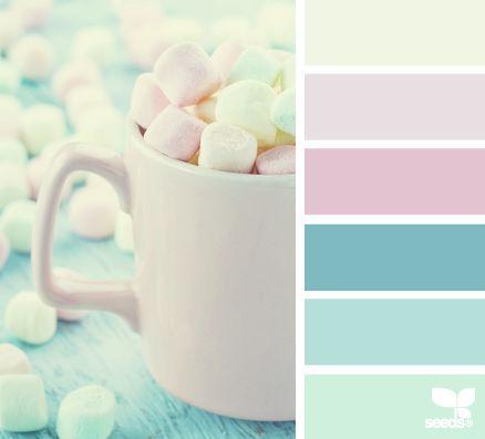 marshmallow hues - convinaciones de colores