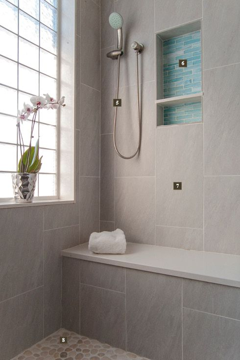 Spa like master bath renovation philadelphia with glass for Bathroom tile philadelphia