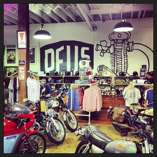 Deus bikes and clothes are dope.
