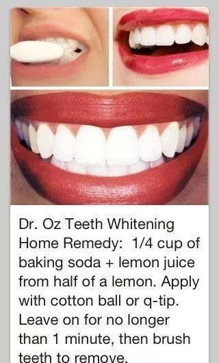 Dr. Oz teeth whitening