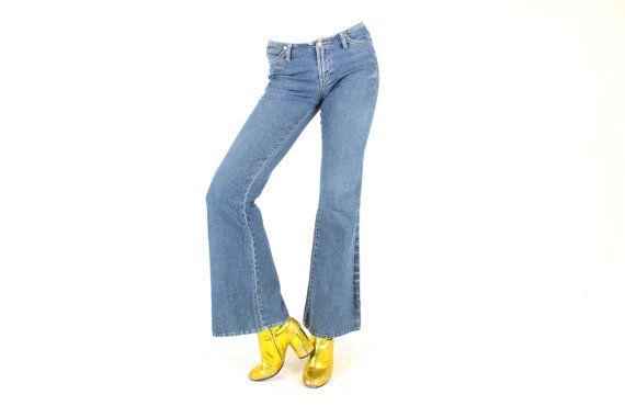 90s Killer Cut Flared Denim Britney Jeans / Flares