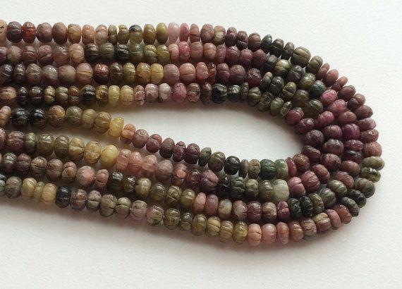 Rare Tourmaline Beads Designer Multi Tourmaline by gemsforjewels