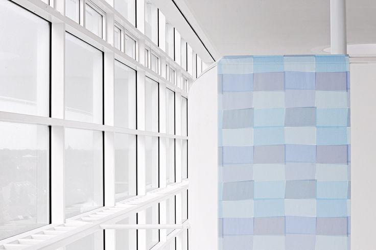 """""""northern lights"""" sind kühle Farben in reduzierter Designsprache. #architecture #architektur #drapilux #stoff #design #200° #collection #print #baukasten"""