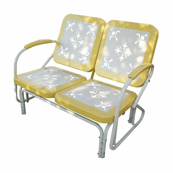 4D Concepts Metal Retro Glider Outdoor Lounge Chair - 71350