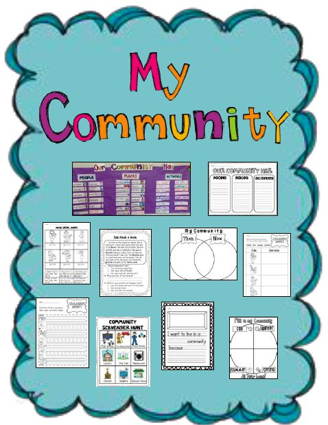 Sarah's First Grade Snippets: Communities Mini Unit