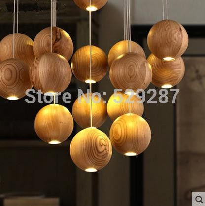 1 pcs IKEA Designer art lamps dining room simple wooden chandeliers wooden ball lamp led-in Pendant Lights from Lights & Lighting on Aliexpress.com | Alibaba Group