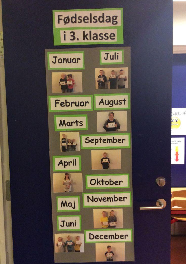 Min fantastiske kollega i min 3. Klasse har lavet dekoration til klassens dør - tilstår begejstring fro børnene :-)