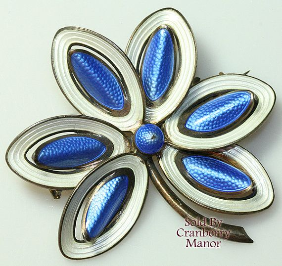 Aksel Holmsen Brooch Pin Norway Sterling Silver by CranberryManor