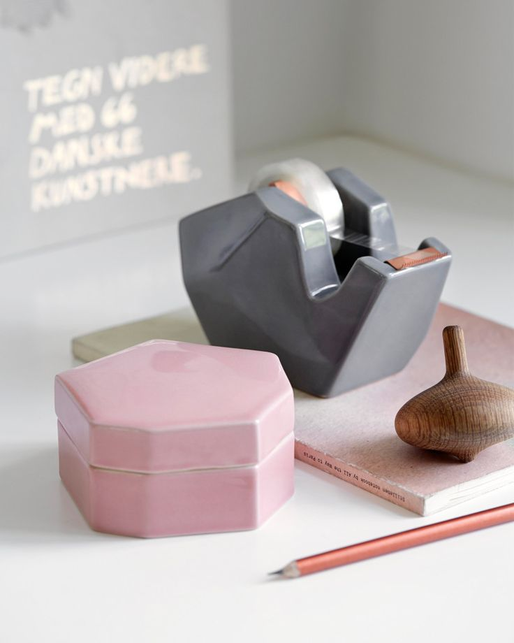 Officina Storage jar in Pink by Kahler Design