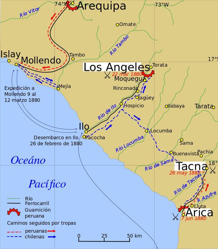 Tacna Arica campaign - Guerra del Pacífico - Wikipedia, la enciclopedia libre
