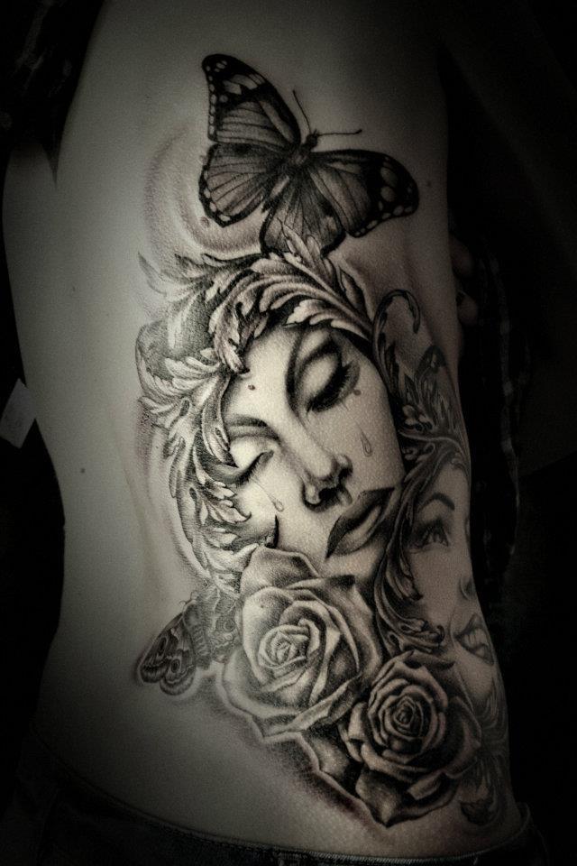 Ink-O-Rama Custom Tattoos. Crying girl.