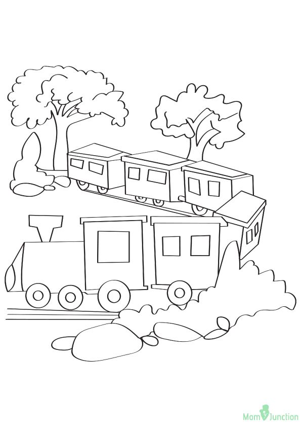 Quiet Train Journey 16 Coloring Pages Train Drawing Train Coloring Pages