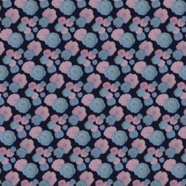 Watercolour Pink and Blue Roses Pattern