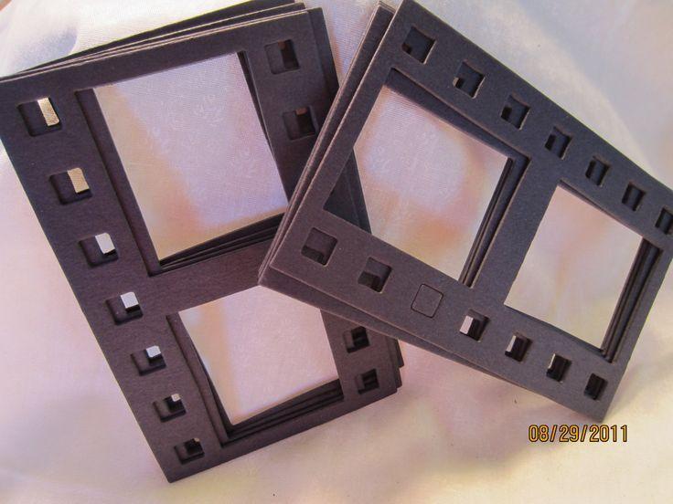 Black DIY Film Strip Frames-Blank Chipboard Filmstrip Shapes for Decorating. $4.00, via Etsy.