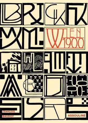 Personal monograms of various designers from the Vienna Secession, 1902. Including: Gustav Klimt (second from R on top), Koloman Moser (second from bottom on L), Emil Orlik (second from bottom on R).