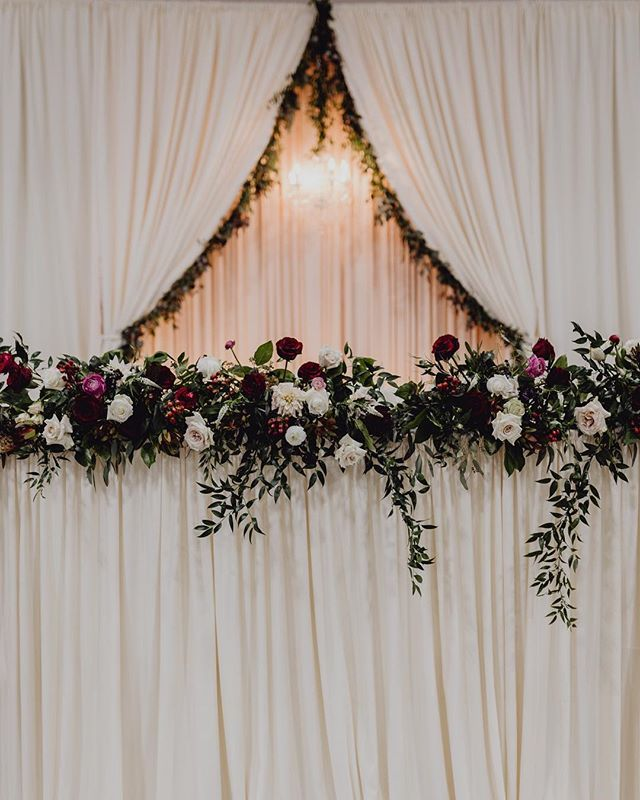North Texas Wedding Florist Dfw Florist David Co Wedding Florals Maroon Wedding Marsala Weddin Head Table Wedding Floral Wedding Red Wedding Flowers