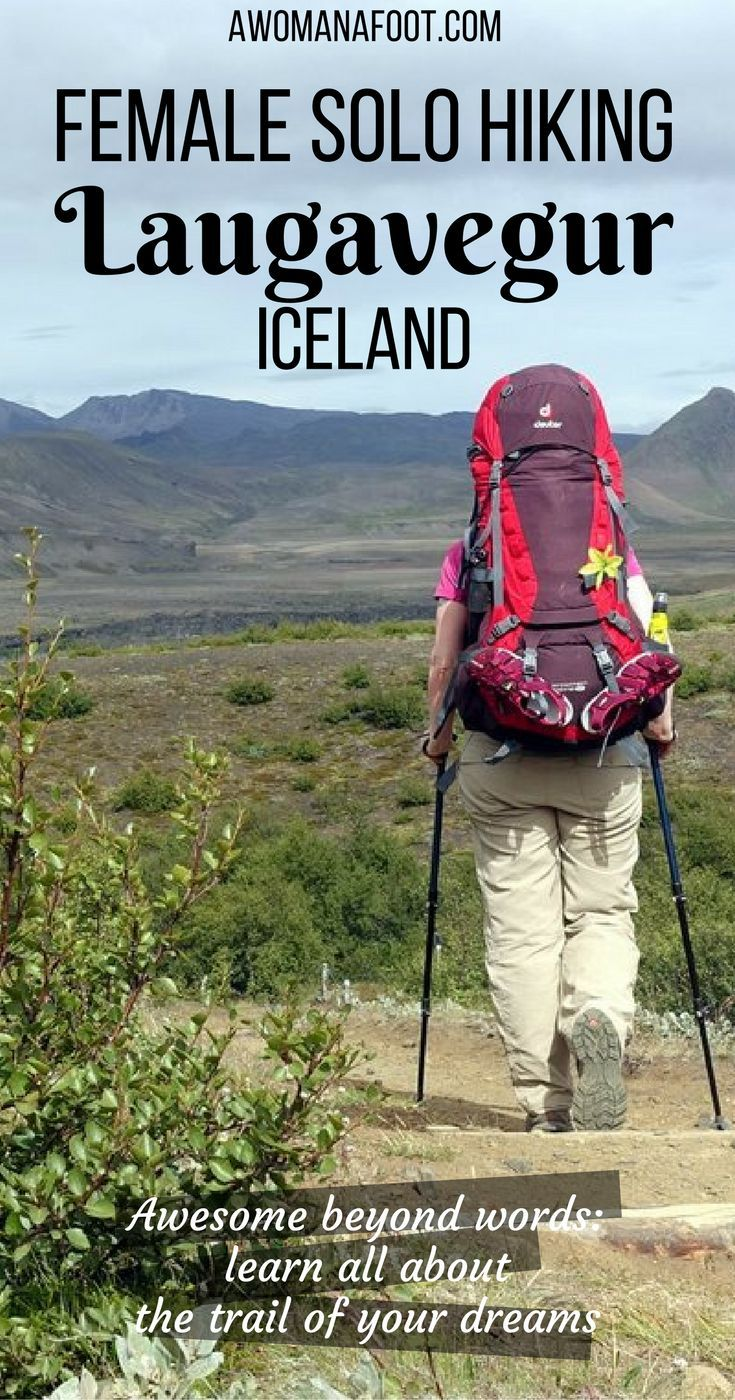 Hiking solo the dramatic Laugavegur trail in Iceland- through black sands, colorful rocks, lava fields, ice bridges, and geysers. Hiking and camping in Iceland | female solo hiking | bucket list trail | geysers | glacier | mountains | Landmannalaugar | Th
